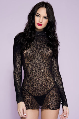 Music Legs Lace Dress | Angel Clothing