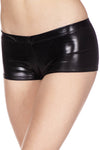 Music Legs Metallic Mini Shorts Black | Angel Clothing