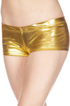 Music Legs Metallic Mini Shorts Gold | Angel Clothing