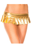 Music Legs Metallic Pleated Micro Mini Skirt Gold | Angel Clothing