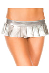 Music Legs Metallic Pleated Micro Mini Skirt Silver | Angel Clothing