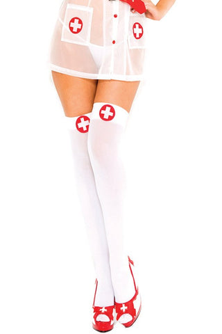 Music Legs Nurse Hold-Ups | Angel Clothing