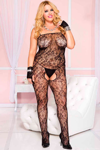 Music Legs Plus Size Bodystocking 1314Q | Angel Clothing