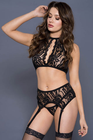 Music Legs Lace Lingerie Set | Angel Clothing