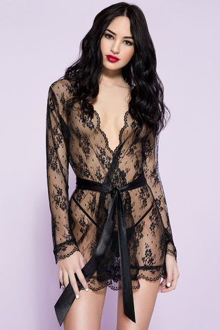 Music Legs Sheer Lace Robe | Angel Clothing