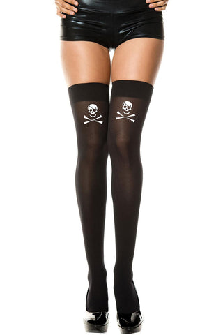 Music Legs Skul and Crossbones Holdups | Angel Clothing