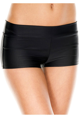 Music Legs Stretched Booty Shorts Black | Angel Clothing
