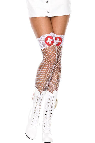 Music Legs White Cross Holdups | Angel Clothing