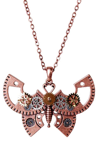 Mystica Steampunk Butterfly Necklace