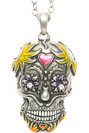 Mystica Day of the Dead Skull Necklace