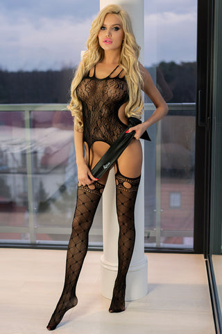 Livia Corsetti Nadri Bodystocking Black