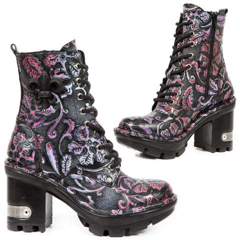 New Rock Embossed Vintage Flower America Boots M.NEOTYRE07-S6 | Angel Clothing
