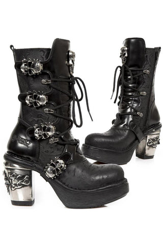 New Rock Anki NRK Skull Boots M.8366-S1 | Angel Clothing
