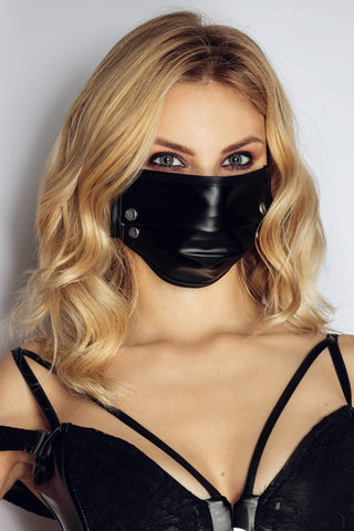 Noir Handmade Face Mask with Studs | Angel Clothing