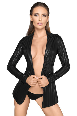 Noir Handmade Wetlook Jacket | Angel Clothing