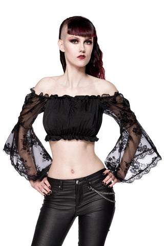 Ocultica Long Sleeve Lace Top | Angel Clothing