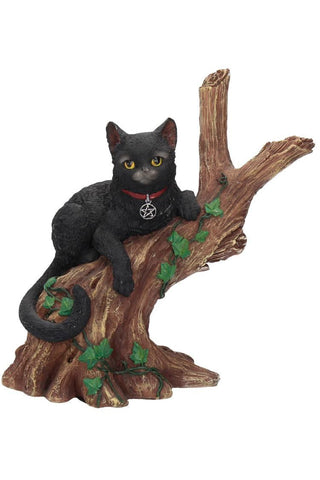 Onyx Cat in Tree Figurine | Angel Clothing