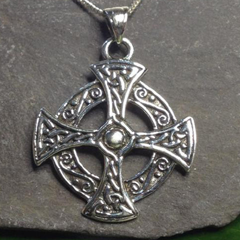 Seventh Sense Celtic Cross Pendant Silver | Angel Clothing