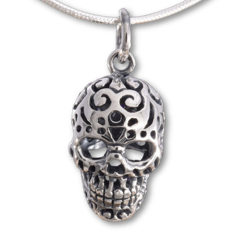 Seventh Sense Skull Pendant Silver | Angel Clothing