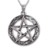 Seventh Sense Pentagram with Celtic Border Pendant Silver | Angel Clothing