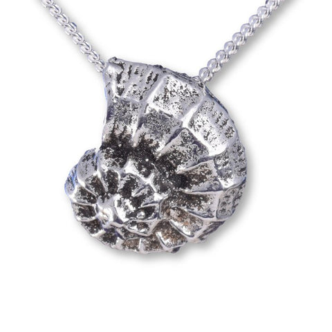 Seventh Sense Ammonite Pendant Silver | Angel Clothing