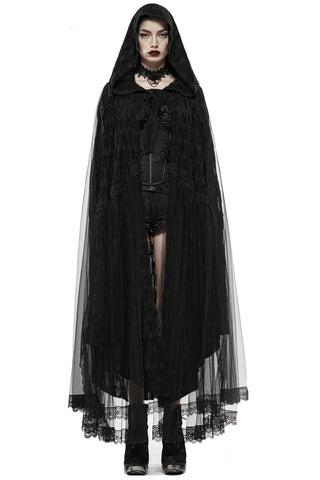 Punk Rave Black Swan Lace Cape | Angel Clothing