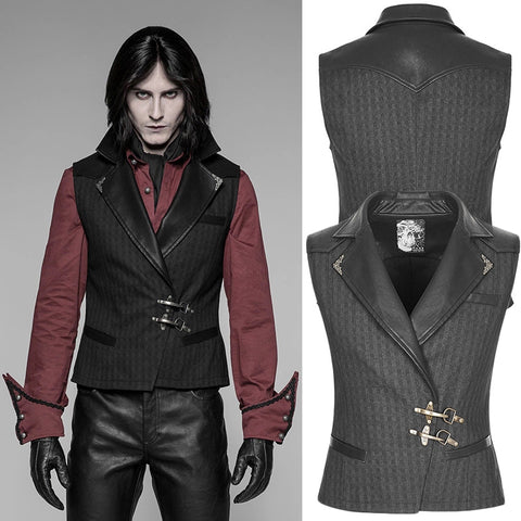 Punk Rave Formal Waistcoat Black | Angel Clothing