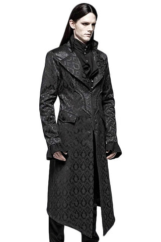 Punk Rave Gothic Jacquard Aristocrat Coat | Angel Clothing