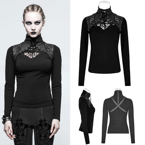 Punk Rave Hera Top Black T-476 | Angel Clothing