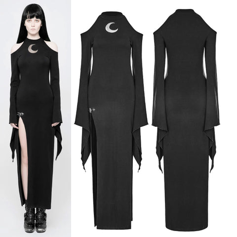 Punk Rave Moon Maxy Dress WQ-367 | Angel Clothing