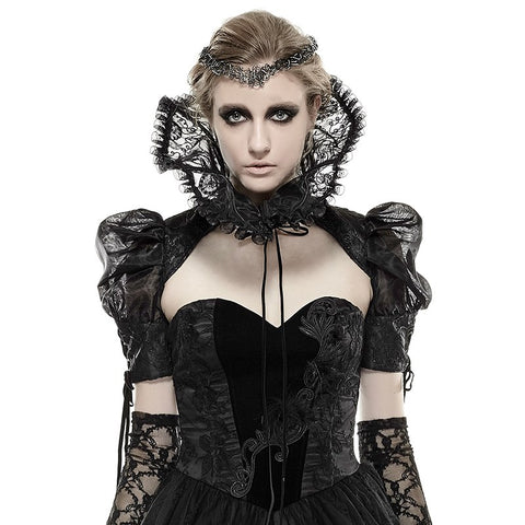 Punk Rave Fortress Collar Sleeve Shrug Top | Angel Clothing