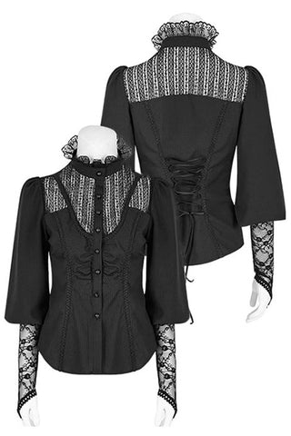 Punk Rave Victorian Gothic Shirt Black | Angel Clothing