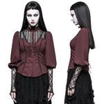 Punk Rave Victorian Gothic Shirt Red Y-794 | Angel Clothing
