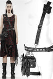 Punk Rave Catacomb Bag and Harness Black PU | Angel Clothing