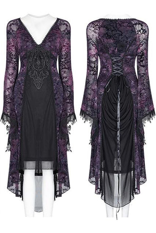 Punk Rave High Elf Evening Dress Purple | Angel Clothing