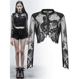 Punk Rave Misfit Lace Crop Top | Angel Clothing
