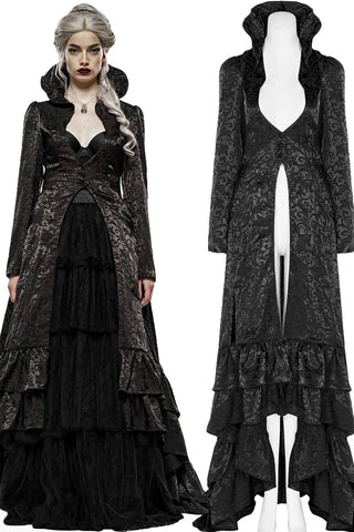 Punk Rave Obsidian Queen Coat | Angel Clothing