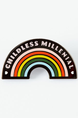 Punky Pins Childless Millennial Enamel Pin | Angel Clothing