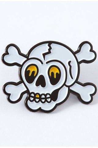 Punky Pins Skull Tattoo Inspired Enamel Pin | Angel Clothing