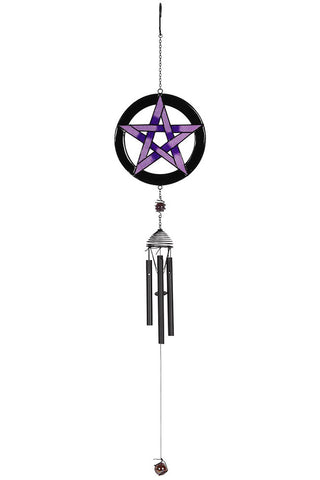 Purple Pentagram Windchime | Angel Clothing