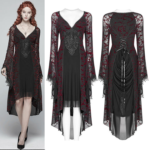 Punk Rave High Elf Evening Dress Red | Angel Clothing