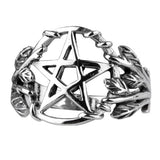 Echt etNox Gothic Pentagram Ring Sterling Silver | Angel Clothing