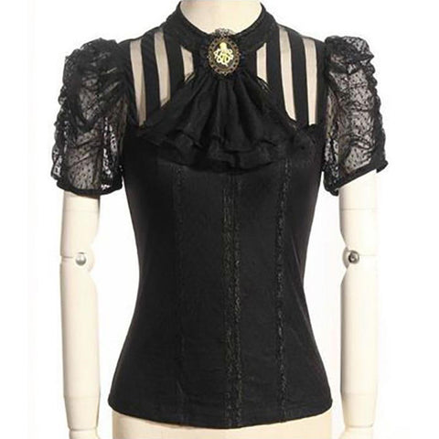 RQBL Black Melisandre Blouse | Angel Clothing