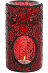 Red Pillar Crackle Glass Oil Burner | Angel Clothing