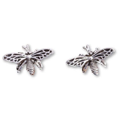 Seventh Sense Bumble Bee Stud Earrings Silver | Angel Clothing