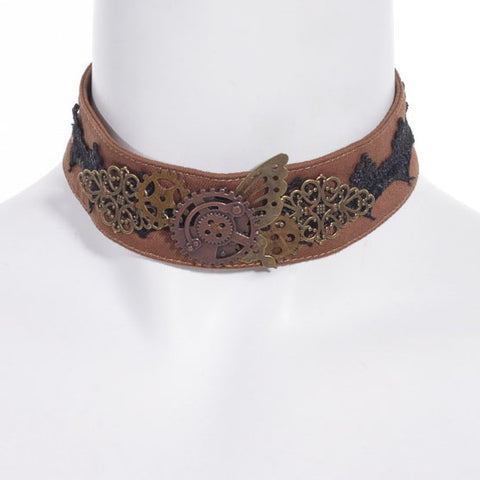 RQBL Mechanical Butterfly Choker | Angel Clothing