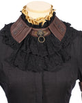 RQBL  Black Jabot and Wristbands | Angel Clothing