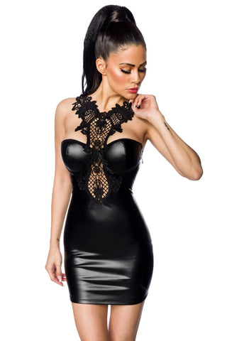 Saresia Wetlook and Lace Dress | Angel Clothing