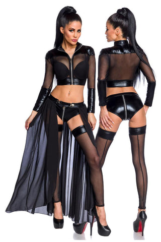 Saresia Transparent Black Gogo Set | Angel Clothing