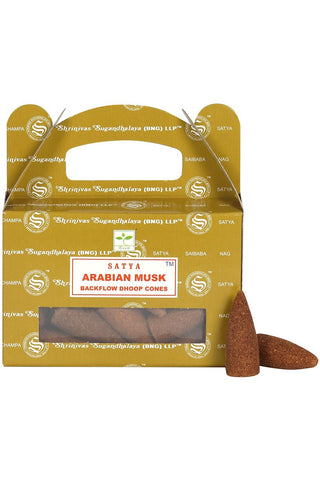 Satya Arabian Musk Backflow Dhoop Cones | Angel Clothing